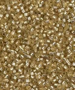 Miyuki Delica Cylinder/Seed Bead, DB0686/DB686, Transparent Saffron Silver Lined, 11/0 7 grams
