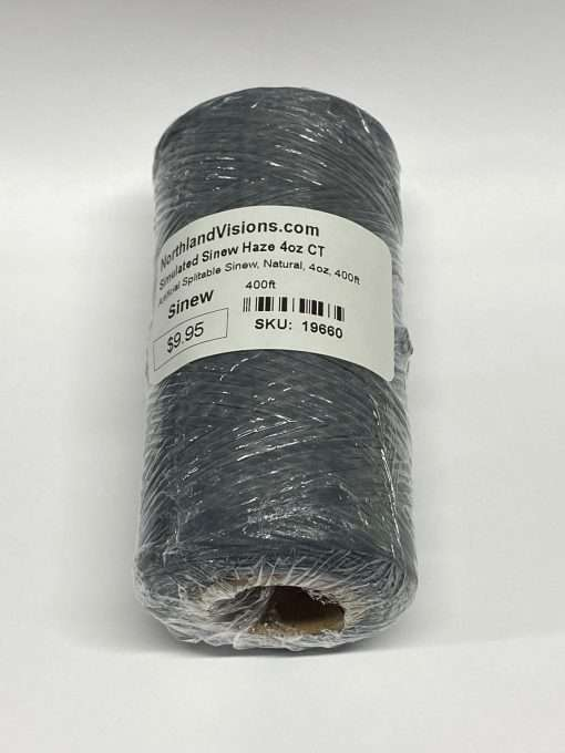 Artificial Splitable Sinew, Haze Grey, 4oz, 400ft
