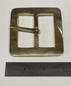 """Square Brass Buckle, Period Style, 2"""" Inside Diameter"""