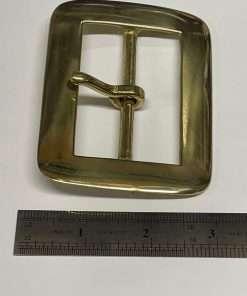 "Rectangle Brass Buckle, Period Style, 2.5"" Inside Diameter"