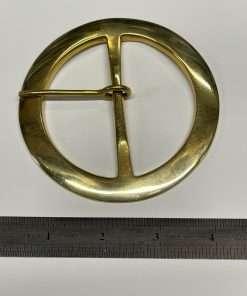 "Round Brass Buckle, Period Style, 3"" Inside Diameter"