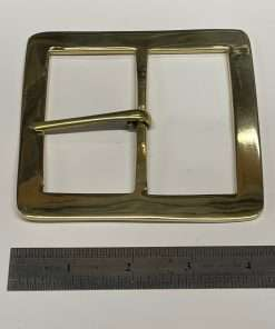 """Square Brass Buckle, Period Style, 3"""" Inside Diameter"""