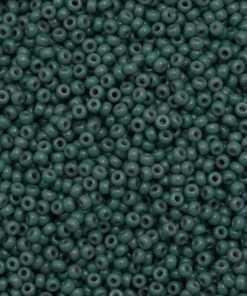 Japanese Seed Bead, Miyuki 11-4481/11-D4481, Duracoat Opaque Dark Cyan Blue, 11/0 30 grams