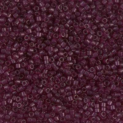 Miyuki Delica Cylinder/Seed Bead, DB1312, Transparent Raspberry, 11/0 7 grams