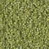 Miyuki Delica Cylinder/Seed Bead, DB2309, Opaque Glazed Seaweed Green Matte AB, 11/0 7 grams