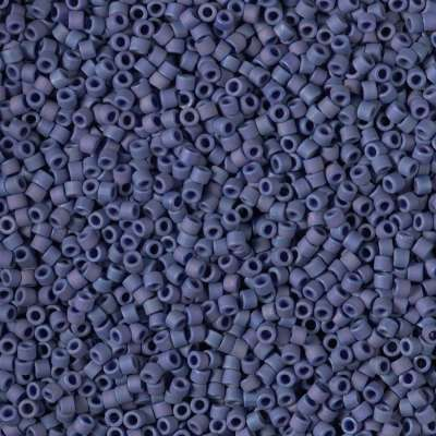 Miyuki Delica Cylinder/Seed Bead, DB2319, Opaque Glazed Navy Blue Matte AB, 11/0 7 grams
