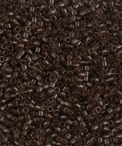 Miyuki Delica Cylinder/Seed Bead, DB0715/DB715, Transparent Dark Brown, 11/0 7 grams