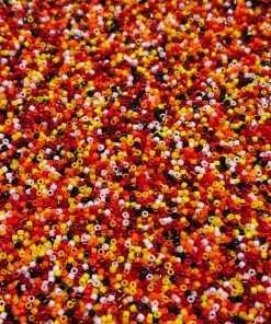 Miyuki Delica Cylinder/Seed Beads, DBFM01, Opaque Fire Mix 01, 11/0 7 grams