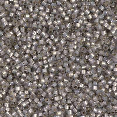 Miyuki Delica Cylinder/Seed Bead, DB0630/DB630, Transparent Silver Lined Opal Grey, 11/0 7 grams