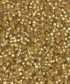 Miyuki Delica Cylinder/Seed Bead, DB0687/DB687, Transparent Silver Lined Peridot Semi Frosted, 11/0 7 grams