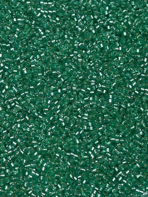 Miyuki Delica Cylinder/Seed Bead, DB0691/DB691, Transparent Silver Lined Mint Green Semi Frosted, 11/0 7 grams