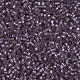 Miyuki Delica Cylinder/Seed Bead, DB0695/DB695, Transparent Silver Lined Violet Semi Frosted, 11/0 7 grams