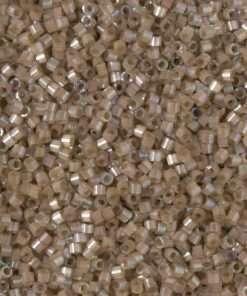 Miyuki Delica Cylinder/Seed Bead, DB1862, Silk Satin Shell AB, 11/0 7 grams