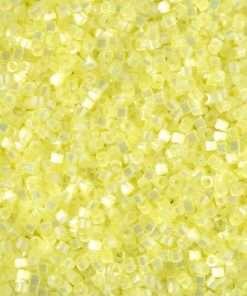 Miyuki Delica Cylinder/Seed Bead, DB1873, Silk Satin Citron AB, 11/0 7 grams