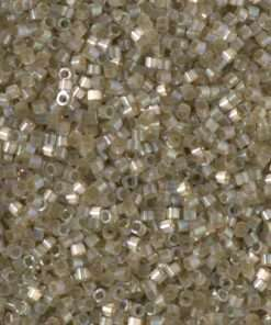 Miyuki Delica Cylinder/Seed Bead, DB1876, Silk Satin Cactus AB, 11/0 7 grams