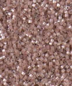 Miyuki Delica Cylinder/Seed Bead, DB1879, Silk Satin Beige AB, 11/0 7 grams
